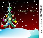christmas tree with space for... | Shutterstock .eps vector #37948240