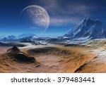 alien planet   fantasy landscape   Shutterstock . vector #379483441