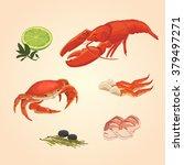 Set Sea Food Crab And Crawfish...