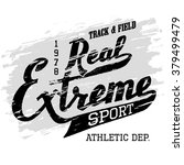 real extreme sport. athletic t... | Shutterstock .eps vector #379499479