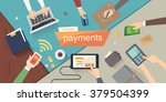 mobile payments and bank vector ... | Shutterstock .eps vector #379504399