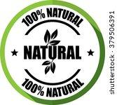100  natural green  button ... | Shutterstock . vector #379506391