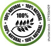 100  natural  green  button ... | Shutterstock . vector #379506409