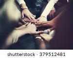 teamwork join hands support... | Shutterstock . vector #379512481
