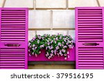 Pink Shutters And Petunia...