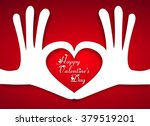 heart of two linked hands  ... | Shutterstock .eps vector #379519201