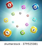 ball lottery numbers 3d | Shutterstock .eps vector #379525381