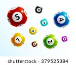 ball lottery numbers 3d | Shutterstock .eps vector #379525384