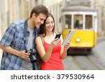 couple of casual tourists... | Shutterstock . vector #379530964