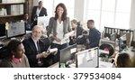 business team working office... | Shutterstock . vector #379534084