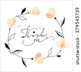 trendy wreath card with... | Shutterstock .eps vector #379545739