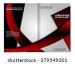 brochure template design ... | Shutterstock .eps vector #379549201