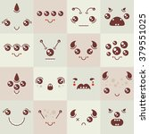 set of cute colorful vector... | Shutterstock .eps vector #379551025