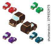 flat set isometric cars of... | Shutterstock .eps vector #379552975