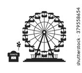 black ferris wheel with cash... | Shutterstock .eps vector #379558654