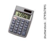 Pocket Calculator On White...