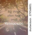 inspirational quote  ... | Shutterstock . vector #379568851