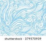 print  seamless pattern of blue ... | Shutterstock .eps vector #379570939