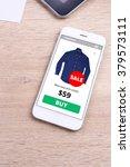 smartphone with ecommerce... | Shutterstock . vector #379573111