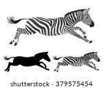 running zebra. side view.... | Shutterstock .eps vector #379575454