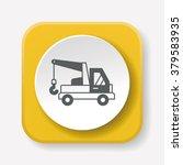 cargo truck icon | Shutterstock .eps vector #379583935