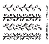 lines hand drawn ornament frame ... | Shutterstock .eps vector #379587634