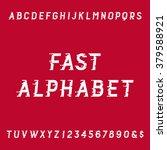 fast alphabet font. motion... | Shutterstock .eps vector #379588921