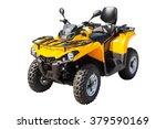 yellow atv quadbike isolated on ...   Shutterstock . vector #379590169