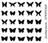 silhouette butterfly... | Shutterstock .eps vector #379591969