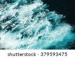 abstract splash turquoise sea...