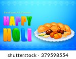 vector illustration of holi...