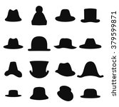 collection of retro hats... | Shutterstock .eps vector #379599871
