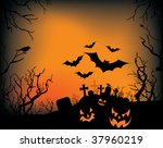 a halloween background with... | Shutterstock .eps vector #37960219