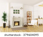 cozy interior of living room... | Shutterstock . vector #379604095