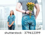 romantic photo of happy young... | Shutterstock . vector #379612399