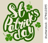 st. patrick's day greeting.... | Shutterstock .eps vector #379613395