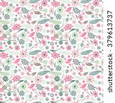elegant seamless pattern with...   Shutterstock . vector #379613737