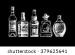 vector set of bottles of... | Shutterstock .eps vector #379625641