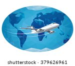 air travel around the world   Shutterstock .eps vector #379626961