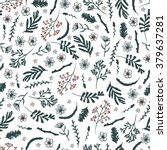 seamless floral pattern on... | Shutterstock .eps vector #379637281