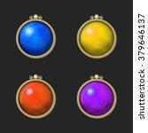 beautiful colorful shiny round...