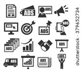 advertising icon set | Shutterstock .eps vector #379652734