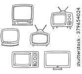 vector set of television | Shutterstock .eps vector #379654024