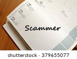scammer text concept write on... | Shutterstock . vector #379655077