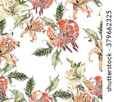 romantic watercolor pattern... | Shutterstock . vector #379662325