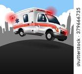 ambulance speeding  vector... | Shutterstock .eps vector #379666735