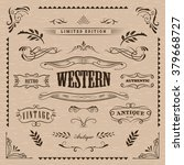 western frame hand drawn... | Shutterstock .eps vector #379668727