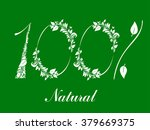 100    percent  natural  label. ... | Shutterstock .eps vector #379669375