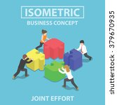 Isometric Business People...