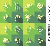 vector flat icon set   science... | Shutterstock .eps vector #379671409